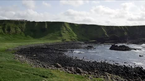 Northern-Ireland-Cliffs-And-Pebble-Beach-Near-Giants-Causeway