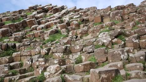 Northern-Ireland-Hexagonal-Columns-With-Lichens-At-Giants-Causeway-
