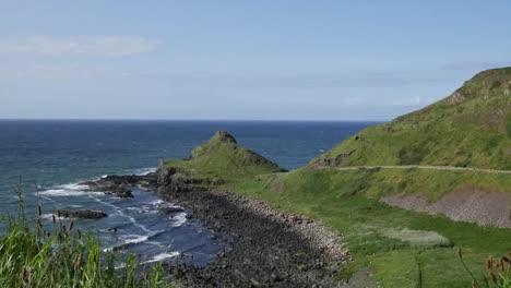 Northern-Ireland-Path-Along-The-Causeway-Coast-Pan-And-Zoom