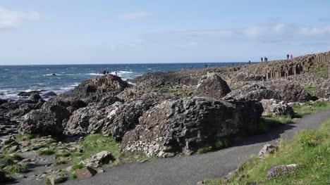 Northern-Ireland-Path-Past-Big-Rocks-En-Route-To-Giants-Causeway-