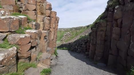 Northern-Ireland-Path-Through-Basalt-Columns-At-Giants-Causeway-