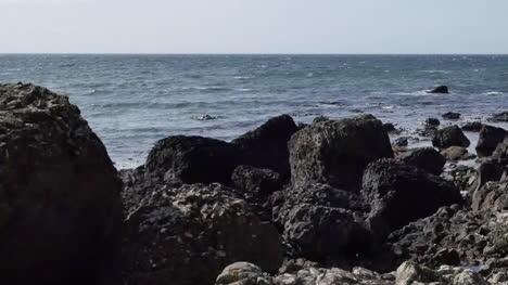 Northern-Ireland-Rocks-By-Shore-En-Route-To-Giants-Causeway-Pan-