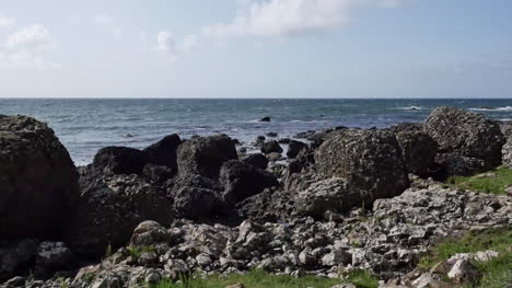 Northern-Ireland-Rocks-By-Shore-En-Route-To-Giants-Causeway-