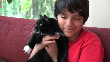 Boy-With-A-Tuxedo-Cat