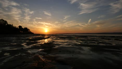 Canada-Bay-Of-Fundy-Grand-Pre-Evangeline-Beach-Late-Sunset-Time-Lapse-1-Minute