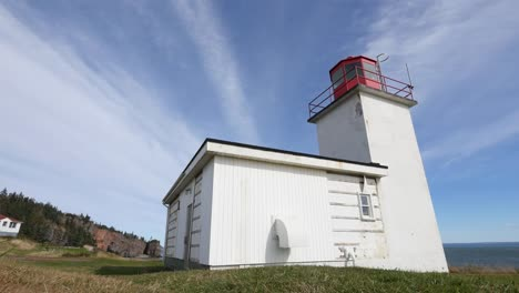 Canada-Bay-Of-Fundy-Lighthouse-And-Shore