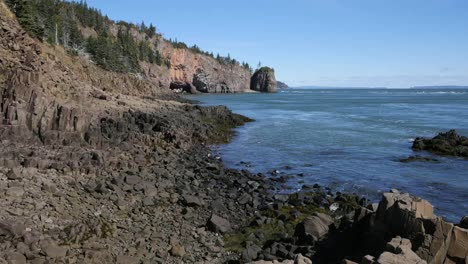 Canada-Bay-Of-Fundy-Tide-Ebb-High-To-Mid-To-Low-Fades