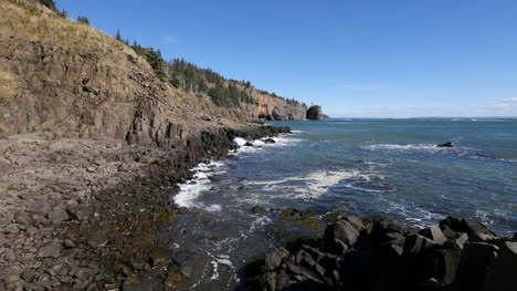 Canada-Bay-Of-Fundy-Wave-Lap-Rocky-Shore