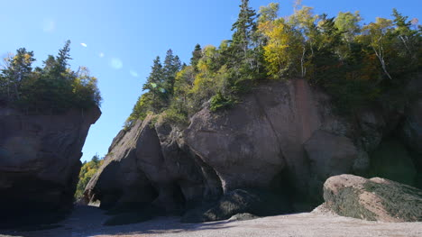 Canada-New-Brunswick-Hopewell-Rocks-Cliffs-With-Spots