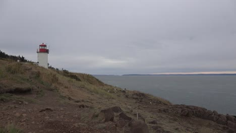 Canada-Nova-Scotia-Bay-Of-Fundy-Below-Lighthouse