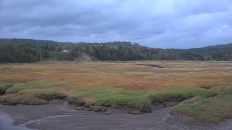 Canada-Nova-Scotia-New-Yarmouth-Low-Tide-Marsh-Under-Clouds