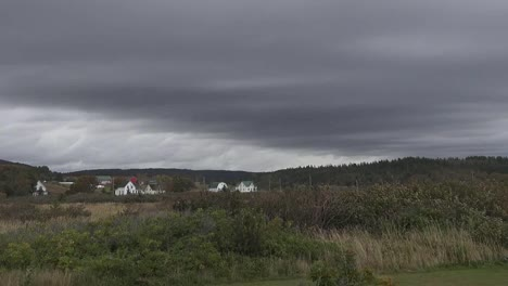 Canada-Nova-Scotia-Houses-And-Dark-Sky-Pan