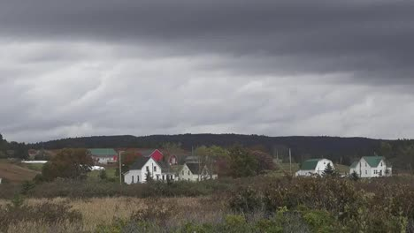 Canada-Nova-Scotia-Interesting-Sky-Over-Houses-Pan