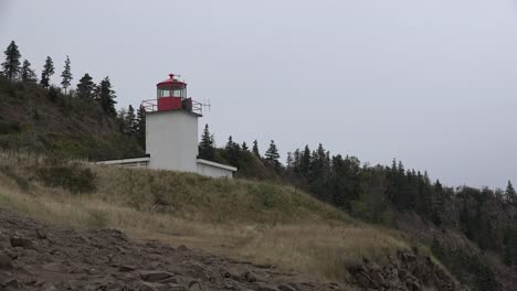 Canada-Nova-Scotia-Light-House-Above-Rocks
