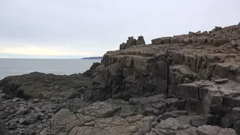 Canada-Nova-Scotia-Rocks-And-Bay-Of-Fundy-At-High-Tide