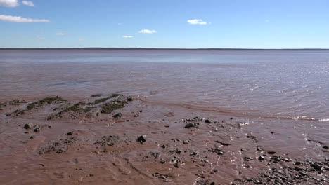 Kanada-Schlammiges-Wasser-In-Der-Bucht-Von-Fundy