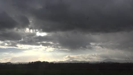 Oregon-Dark-Clouds-And-Birds-Above-Field-Time-Lapse