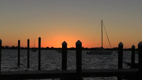 Florida-Key-Largo-Sunset-With-Pier-And-Sailboat