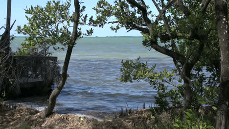 Florida-Key-Largo-Water-View-With-Small-Waves