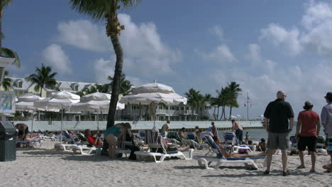 Florida-Key-West-Southern-Most-Beach-With-Tourists