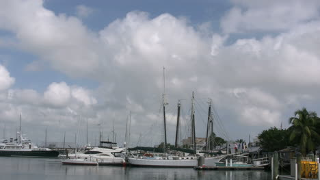 Florida-Key-West-Harbor-With-Moving-Clouds