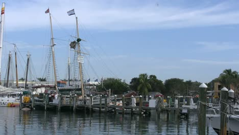 Florida-Key-West-Harbor-With-Sailboat-Masts