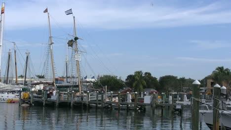 Florida-Key-West-Harbor-With-Sailboat-Masts