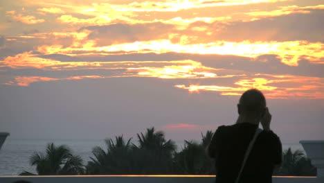 Florida-Key-West-Man-Watching-Sunset
