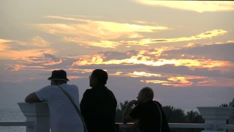 Florida-Key-West-Tourists-Watching-Sunset