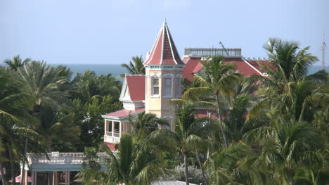 Florida-Key-West-Town-View-Of-Victorian-House