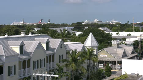 Florida-Key-West-Town-View-Toward-Cruise-Ships