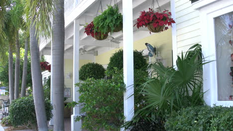 Florida-Key-West-Traditional-House-Fans-And-Hanging-Flowers