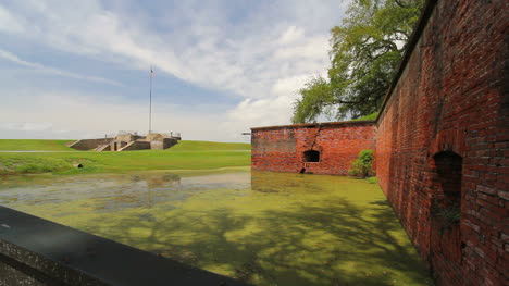 Louisiana-Fort-Jefferson-Moat-And-Walls