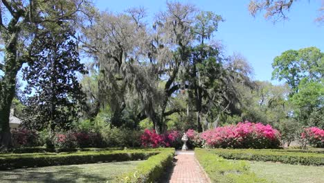 Louisiana-Rosedown-Plantation-Garden-Path-Toward-Pink-Azalea