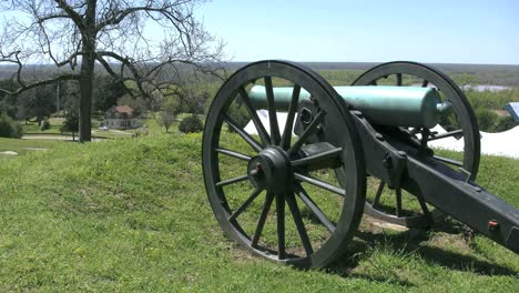 Mississippi-Vicksburg-Battlefield-Cannon-And-Tree