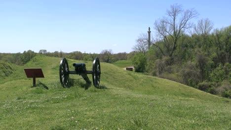 Mississippi-Vicksburg-Battlefield-Cannon-On-Mound
