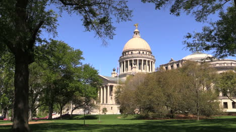 Mississippi-Statehouse-Dome-And-Columns-With-Tree-Frame