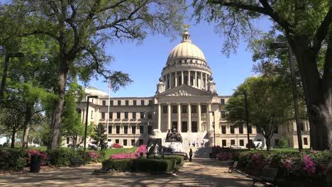 Mississippi-Statehouse-Framed-In-Trees