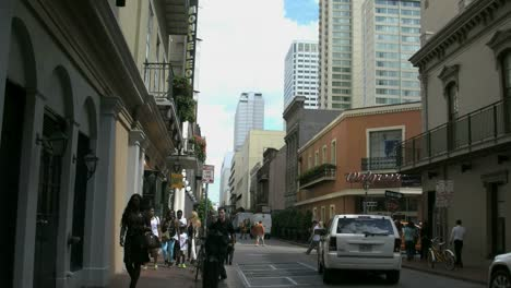 New-Orleans-French-Quarter-Evening-Downtown-&-Tourists