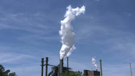 Smokestacks-With-White-Steam