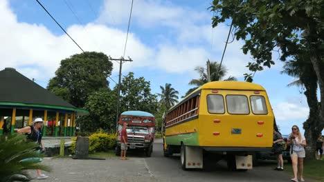 American-Samoa-Colorful-Busses-Yellow