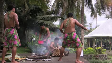 American-Samoa-Performers-Dance-And-Demonstrate-Cooking-Techniques
