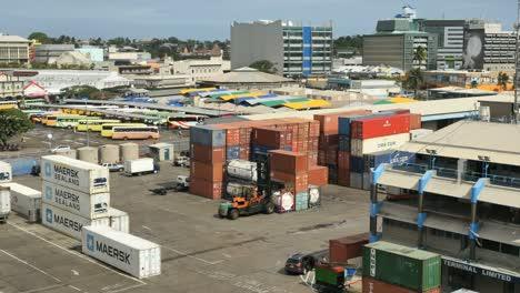 Fiji-Suva-Moving-Cargo-On-Dock