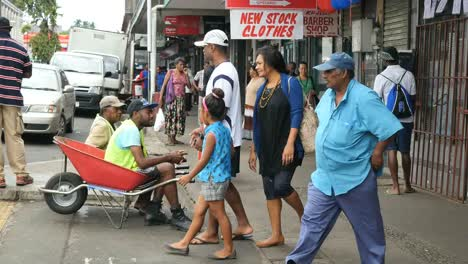Fiji-Suva-Street-Scene-With-Father-And-Daughter