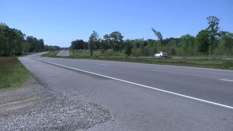 Louisiana-Highway-In-Flat-Land