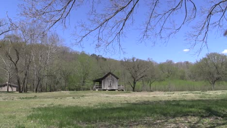 Missouri-Big-Spring-Ozark-Cabin-With-Bugs-Flying-Around