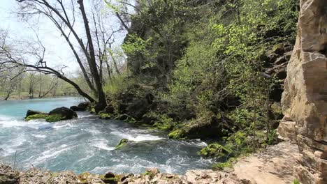 Missouri-Current-River-At-Big-Spring-Beyond-Rock-Ledge