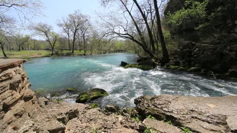 Missouri-Current-River-At-Big-Spring-With-Rock-Ledge