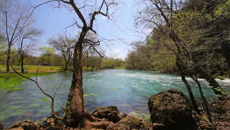 Missouri-Current-River-Through-Trees-At-Big-Spring