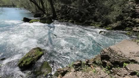Missouri-Water-Bubbling-Forth-Into-The-Current-River-At-Big-Spring